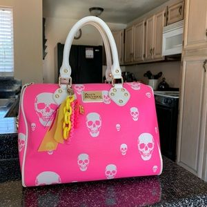 Handbags - Paul's boutique pink Molly skull bag